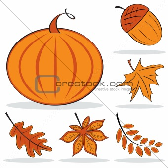 Autumnal icon set