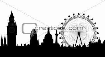 panorama of London - vector