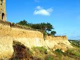 Landslide of soil