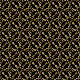 Seamless pattern. Golden on black.