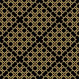 Seamless black-golden pattern.