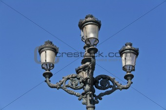 Old forging streetlight