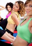 group of girls working out