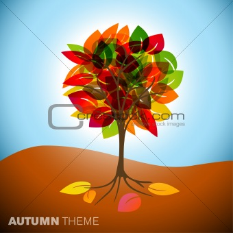 Autumn tree illustration