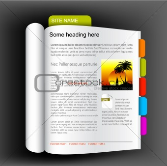 Web site template - open book