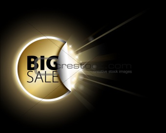 Big golden sale label
