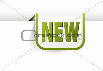 white and green rounded rectangle bookmark