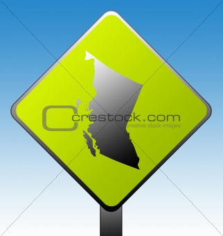 British Columbia province road sign