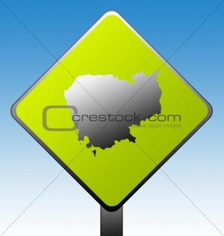 Cambodia road sign