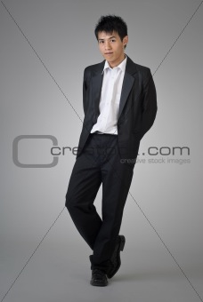 Attractive Asian business man