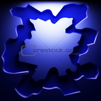 blue abstract plate