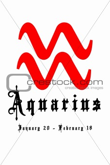 Aquarius January 20 - February 18