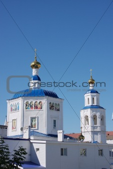 beautiful temple on a background blue sky