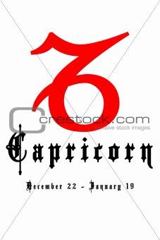 Capricorn December 22 - January 19