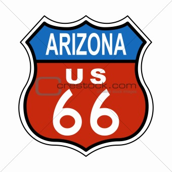 Arizona Route US 66 Sign