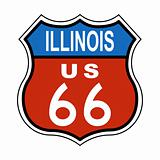 Illinois Route US 66 Sign