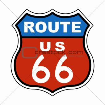 Route US 66 Sign