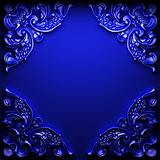 blue abstract ornament