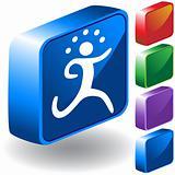 Running 3D Icon