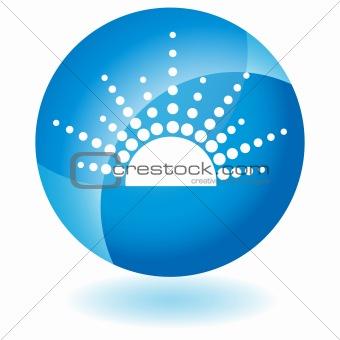Blue Icon - Sun