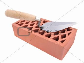 Brick and tool