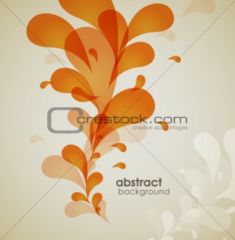 Abstract colored background with flower.