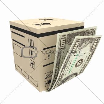 box & money
