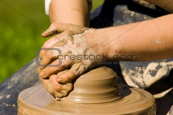 Potters hands