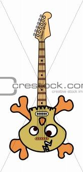 Skull and Bones Electric Guitar