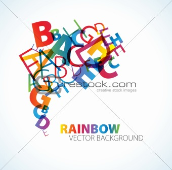 Abstract background with letters