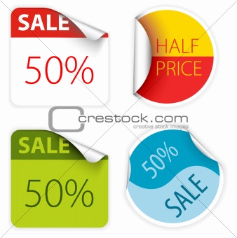 fresh two colors sale labels
