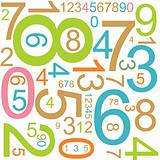 background with colorful numbers