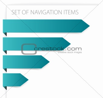 Paper arrows - modern navigation items
