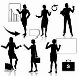 Business Women Silhouettes Set