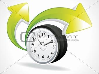 clock with arrows