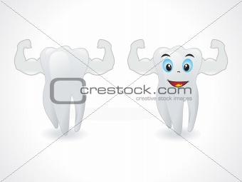 abstract smiley teeth