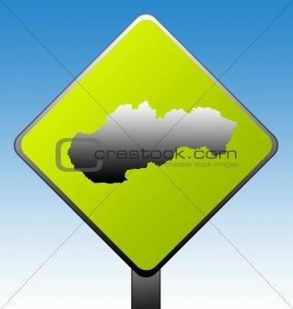 Slovakia road sign