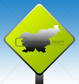 Slovenia Road sign