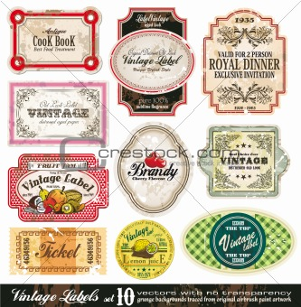Vintage Labels Collection - Set 10