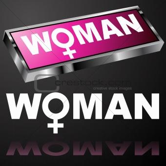 Pink Woman Button