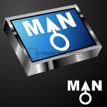 Blue Man Button