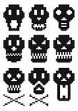pixel skulls, vector