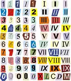 Numerals, Arabic and Roman