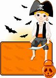 Little Halloween Pirate place card