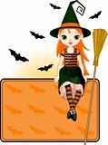 Little Halloween Witch place card