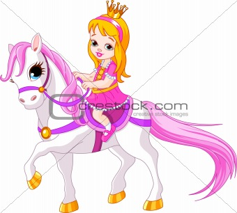 Little princess on horse