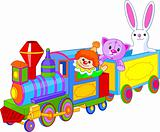 Toy train and toys
