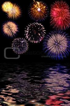 Firework celebrate background