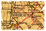 Bordeaux old map