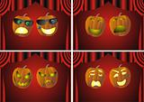 theatrical pumkin faces